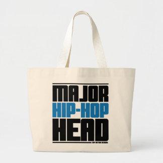 Major Hip Hop Head Lite Blue Tote Bags