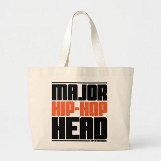 Major Hip Hop Head Orange Tote Bags