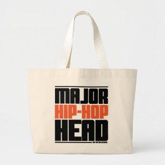 Major Hip Hop Head Orange Canvas Bag