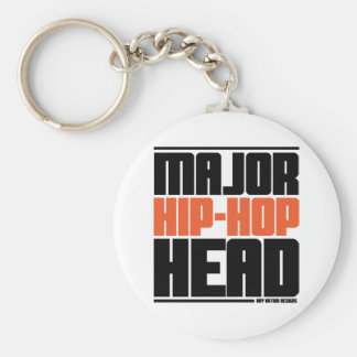 Major Hip Hop Head Orange Keychain