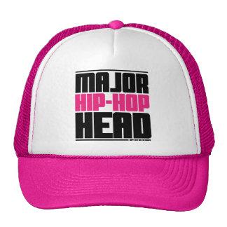Major Hip Hop Head Pink Trucker Hat