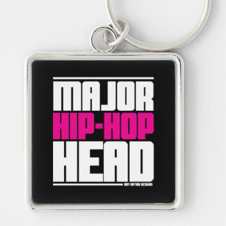 Major Hip Hop Head Pink Keychains