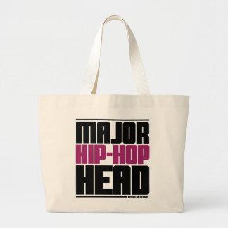 Major Hip Hop Head Purple Tote Bags