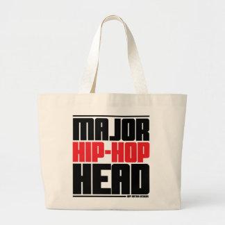 Major Hip Hop Head Red Canvas Bag