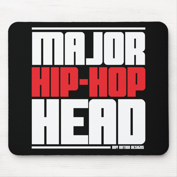 Major Hip Hop Head Red Mouse Pad