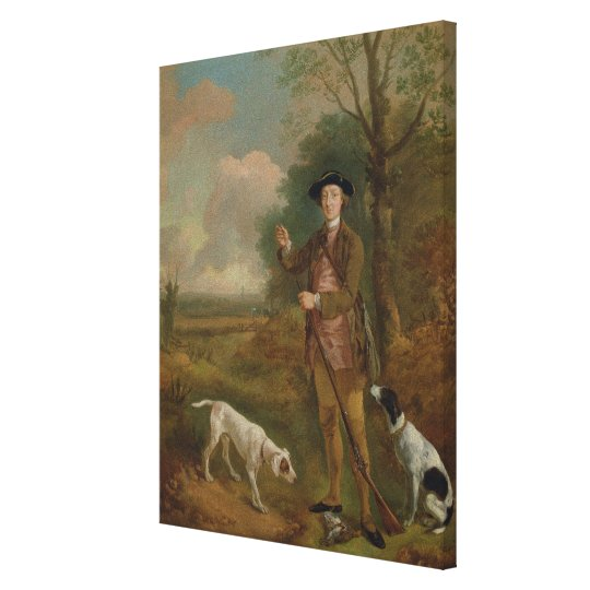 Major John Dade (1726-1811) of Tannington, Suffolk Canvas Print