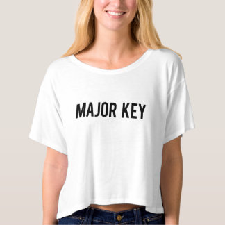 MAJOR KEY Boxy Crop Top