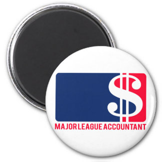 Major League Accountant 2 Inch Round Magnet