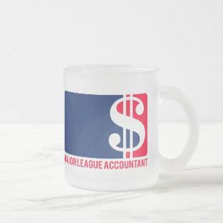 Major League Accountant Frosted Glass Coffee Mug