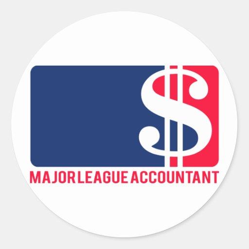 Major League Accountant Stickers