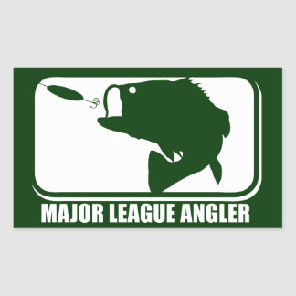 Major League Angler Rectangular Sticker