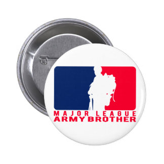Major League Army Brother Pinback Buttons