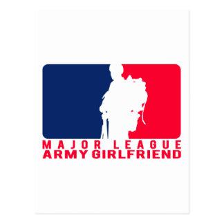 Major League Army Girlfriend Postcard