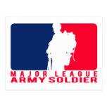 Major League Army Soldier Postcard