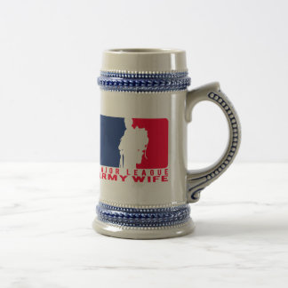 Major League Army Wife Beer Stein