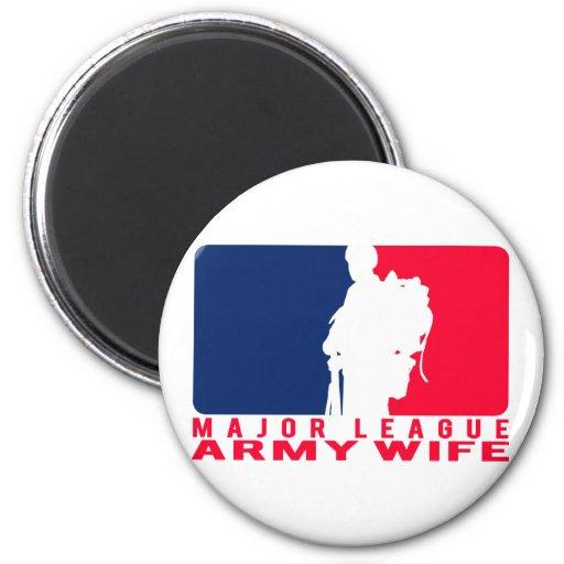 Major League Army Wife Fridge Magnets
