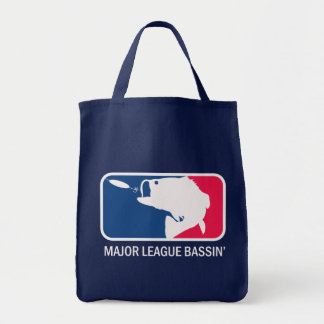 Major League Bassin Largemouth Bass Angler Grocery Tote Bag