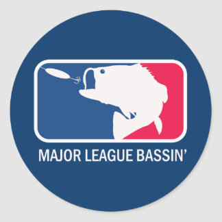 Major League Bassin Largemouth Bass Angler Round Stickers