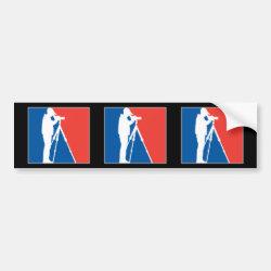Bumper Sticker with Major League Birder design