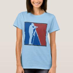 Women's Basic T-Shirt with Major League Birder design