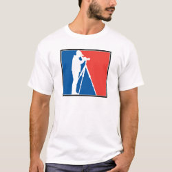 Men's Basic T-Shirt with Major League Birder design