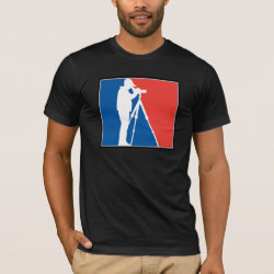 Men's Basic American Apparel T-Shirt with Major League Birder design