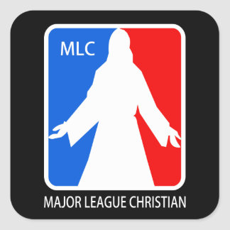 Major League Christian - MLC Square Sticker