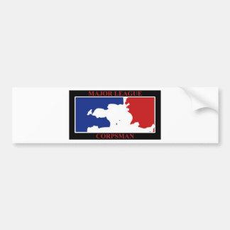 major league corpsman color bumper sticker