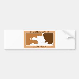 major league corpsman desert bumper sticker