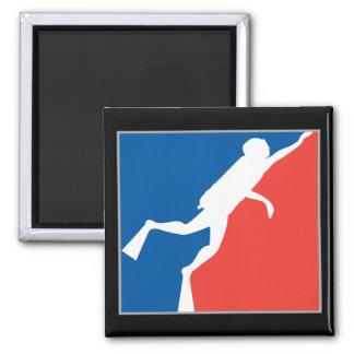 Major League Diver 2 Inch Square Magnet