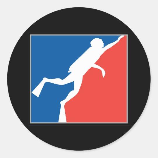 Major League Diver Classic Round Sticker