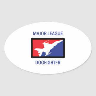 MAJOR LEAGUE DOGFIGHTER OVAL STICKER