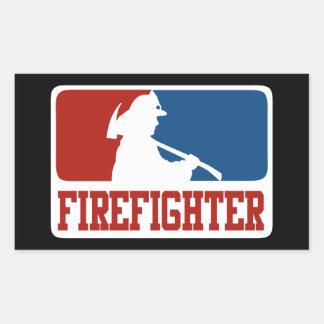 Major League Firefighter Rectangular Sticker