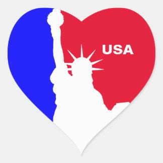 Major League Freedom Heart Sticker