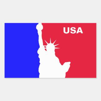 Major League Freedom Rectangular Sticker
