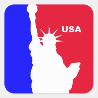 Major League Freedom Square Sticker