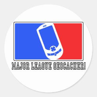Major League Geocacher Classic Round Sticker