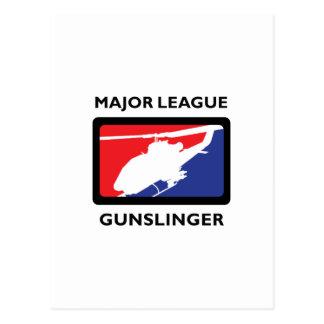 MAJOR LEAGUE GUNSLINGER POST CARD
