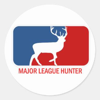 Major League Hunter Round Stickers