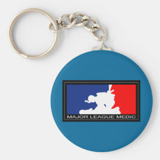 Major League Medic Basic Round Button Keychain