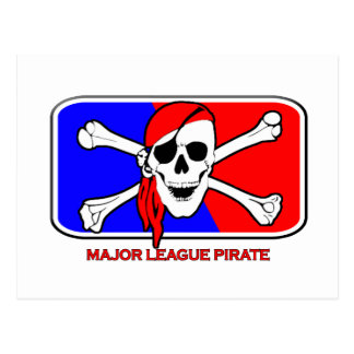 Major League Pirate Postcard