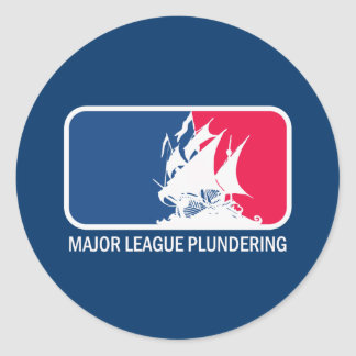 Major League Plundering Classic Round Sticker