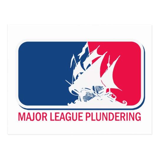 Major League Plundering Postcard