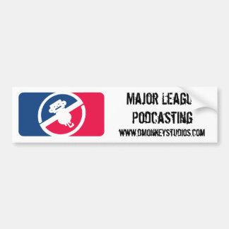 Major League Podcasting Bumper Sticker