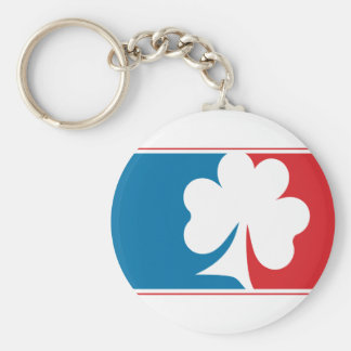 Major League Shamrock - Blue and Red Keychain