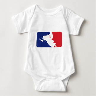 Major League Snowmobiler Baby Bodysuit