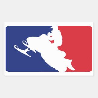 Major League Snowmobiler Rectangular Sticker