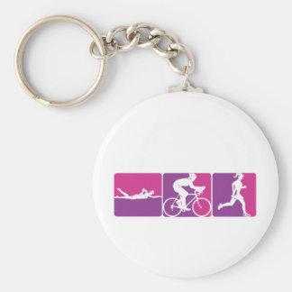 Major League Triathlon Basic Round Button Keychain