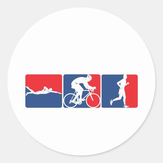 Major League Triathlon Classic Round Sticker