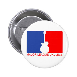 Major League Ukulele Pinback Button